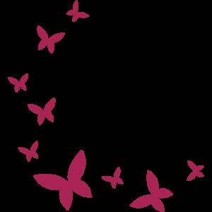 Schmetterling Dekor Bogen Viele Schmetterlinge