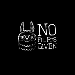 Schwarze Maske Lama no fluffs given