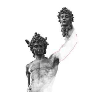 Perseus Medusa Statue Cellini Kunst Geschenk