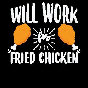 Lustig wird für gebratenes Hühnertrommelstock arbeiten