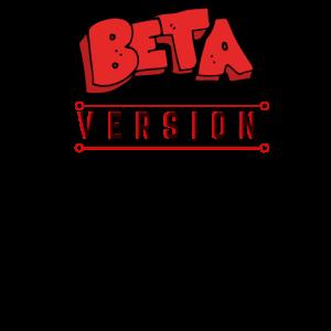 """3D-Beschriftungseffekt-Grafikdesign """"Beta-Version"""""""