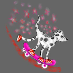 Spotty Skateboarder