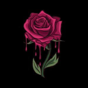 Blutende Rose