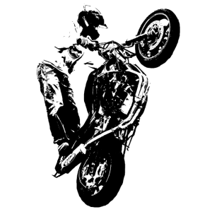 Motorrad Bike Stunt Cross Motocross Herren