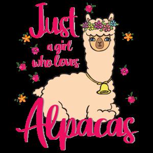 Alpaka mit Blumen. Just a girl who loves Alpacas.