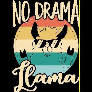 No Drama Llama - Lustiger Lama Alpaka Spruch