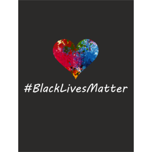 Color heart I Black Lives Matter