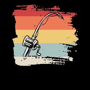 Angelrute retro Geschenk für Fischer