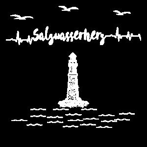 Meer-Salzwasserherz Leuchtturm
