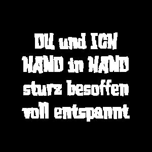 DU und ICH HAND in HAND sturz besoffen voll entspa