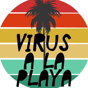 Virus a la Playa Retro Sommer Corona Design