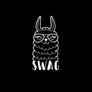 Maske schwarz Lama Swag