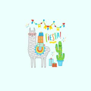 Maske Lama Fiesta Frauen Kinder Geburtstag