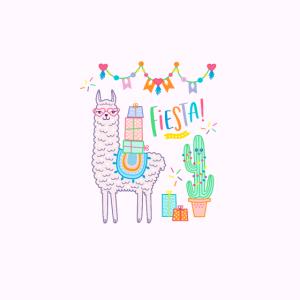Maske rosa Lama Geburtstag Mädchen Fiesta