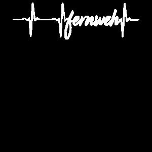 Fernweh Herzlinie Sehnsucht nach der Ferne EKG