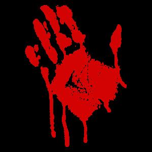 Blut blutige Hand
