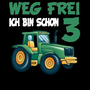 Kinder 3. Geburtstag Shirt Traktor Jungen 3 Jahre