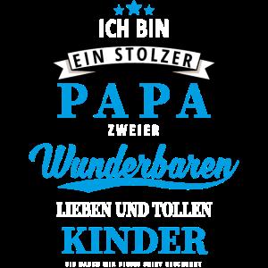 Stolzer papa zwei Kinder