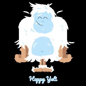 Glückliche Yeti Illustration