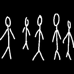 Gruppe Strichmännchen