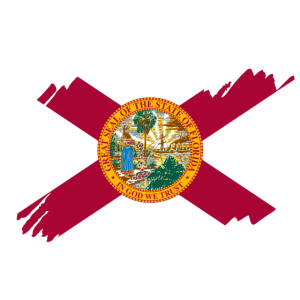 Florida USA - Flag - brush diagonal