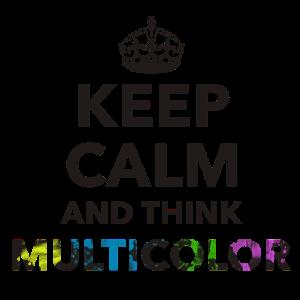 Keep Calm Thinking mehrfarbig