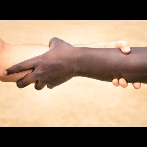 Peace Black And White Hands Handshake