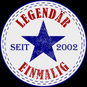 19 Jahre Geburtstag Legendär Seit 2002 - Geschenk