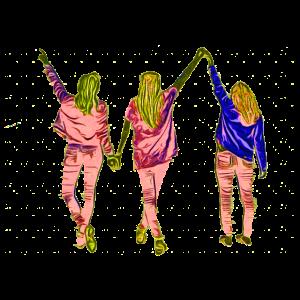 Design drei Freundinnen im Popart-Stil