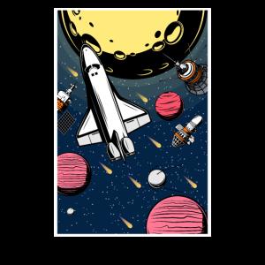 Space Shuttle Mars Weltall Raumfahrt Fun Geschenk