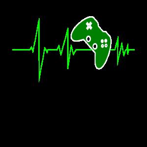 Gaming Videospiele Zocken mit Herzschlag