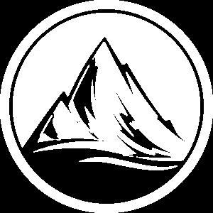 mountains symbol kreis