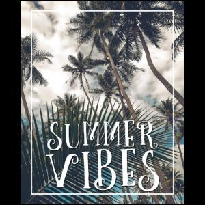 Summer Vibes Palmen Surf Shirt Geschenk
