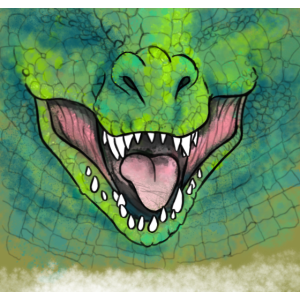Dinosaurier Grün