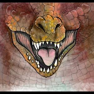 Dinosaurier Rostbraun
