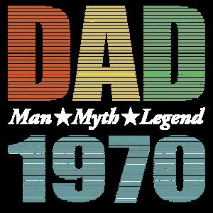 Dad Vintage 1970 - Mann Mythos Legende