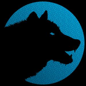 Einsamer Wolf Logo auf Farbe