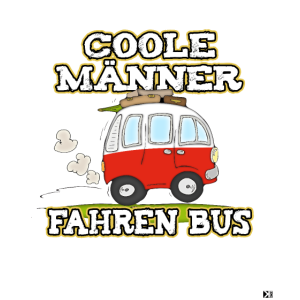 coole männer fahren bus Camping Urlaub Shirt