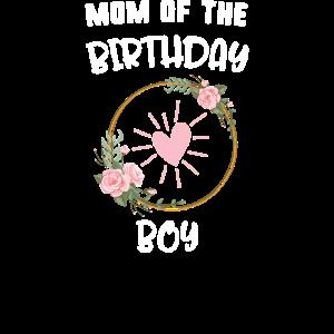 Mutter des Geburtstagsjungen Blumenherzliebe