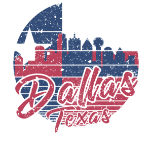 Dallas Texas Skyline Vintage