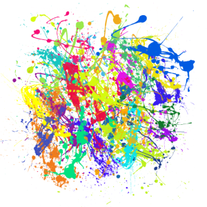 Bunte Kleckse Farben Splatter