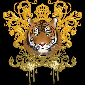 Tiger, Gold, Krone