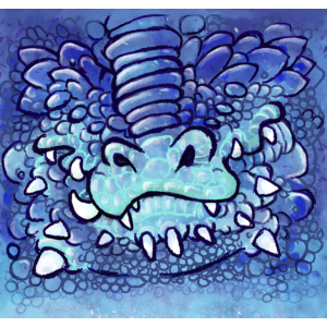 Westlicher Drache Blau Türkis