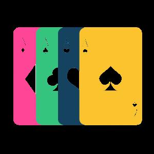 Poker Pokern Karten Kartenspiel Bunt