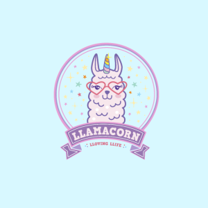Maske rosa Llamacorn Lama Einhorn