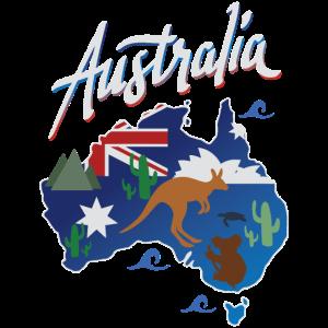 Reise Australien Spaß Aussie Karte Geschenk Design-Idee