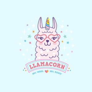 Maske Llamacorn rosa Lama Einhorn