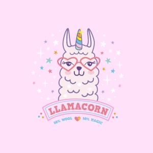 Maske Llamacorn Lama Einhorn rosa Comic