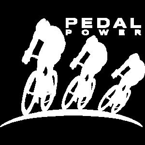 Radfahrer radeln
