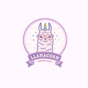 Maske rosa Lama Einhorn Llamacorn Comic